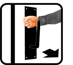 How antibacterial coated door handles work